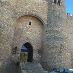 The magnificent entrance to the Parador at Sigüenza, only marred by some idiot who parked beside