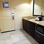 Room 401; kitchen area