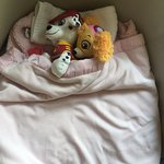 Little touches from the excellent housekeeping team who put my daughter's stuffed animals to bed