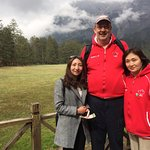 Here is our guide Sunny at a national park in China