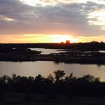 Looking over Wascana Lake from Douglas Park hill
