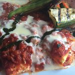 Lobster manicotti with grilled vegetables