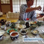Kaiseki breakfast in shared dining room