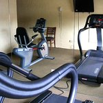exercise room, right next to laundry area, has 2 better-than-basic machines