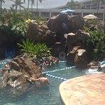 pool / water slide area