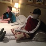 house keeping on Nile cruise made a friend for Liam