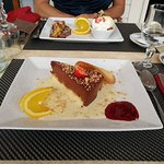 Café gourmand/ Marquise poire,chocolat