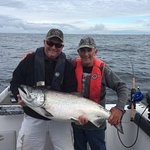 Landed this beautiful 37 lb Tyee Chinook with Captain Hank!!