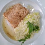 Salmon with lemon risotto