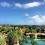A great view from the lobby of the Fairmont Mayakoba grounds!