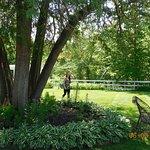 Belvedere garden area behind mansion