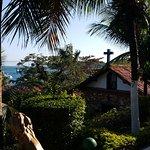 Vista para a praia e Igreja