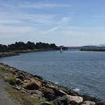 Looking South toward the harbor entrance, from Cesar Chavez park