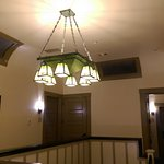 Main lodge second floor curved ceiling, craftman lighting