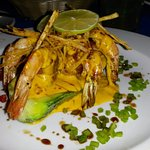The Chef Challenge - a Shrimp Kayak, done in a spicy pineapple sauce
