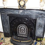 2013 photo of beautiful fireplace in the house.