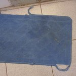 The dirtiest and oldest bath mat of Livingstone!