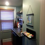 small kitchenette upstairs (perfect for tea in evening)!!