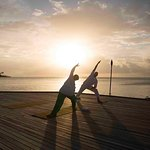 Yoga lesson at sunset, unforgetable!