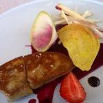 Foie gras et betteraves