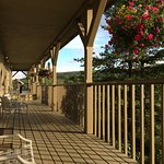 Rooms off the long common veranda