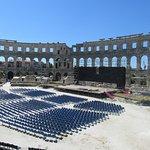 Хорватия,Пула-Аренатеатр, подготовка к концерту