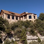 The North Rim Lodge from one of the rim walk view points.