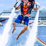 JETPACK  A new water activity. It's a propulsion pack located on the back, wich uses a water mot