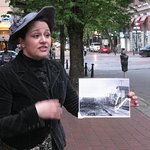 Historical pictures show this area of Water Street before and after the Great Fire