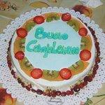 Bellissima e buonissima torta con fragoline e frutta fresca!