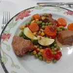 Carne con guarnición y sin gluten