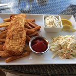 Fish N' Chips, Lightly breaded local whitefish, remoulade slaw, $17