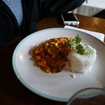 Backpacker special that day: chilli and rice