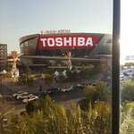 This was the view from our room T-Moblie Arena