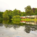 lake side grounds at Glan Gwna Holiday Park Caernarfon