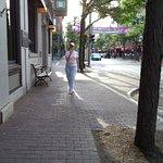 Gretcchen walks Market Street.