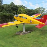 Beech Musketeer on Highway 2 west of brockville. Dedicated to Canadian Military Flyers by the Ai