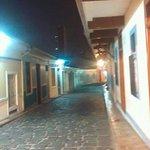 Calle Numa Pompilio Llona, a cuadras del hotel.