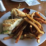 Chicken Sandwich with Brie and Fries