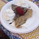 Chocolate and hazelnut crepe