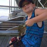 Yip 42 of these little ones he caught off the dock