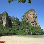 Beautiful scenery on the beach at Railay West