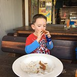 Our little guy loves your calamari! A favourite spot of hours. We travel from the northern Gold