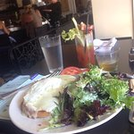 Croque Madame with Bloody Mary