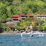 Bayu Cottages from boat.