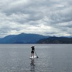 Using the stand-up paddleboard