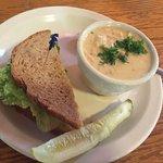 seafood chowder & egg salad