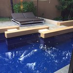 Private pool and lounge area at villa