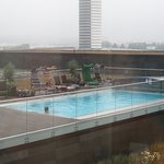 Outdoor pool from room