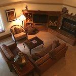 5 star Living room, wood burning fireplace